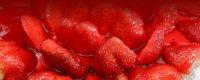 کیک توت فرنگی